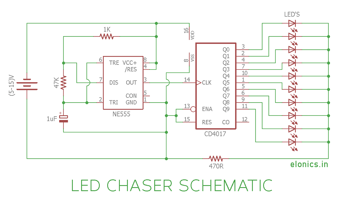 hight resolution of led chaser circuit sequential led flasher using 4017 ic and 555 circuit diagram led chaser