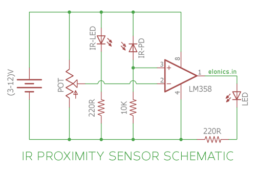 small resolution of ir infrared proximity sensor or obstacle detector circuit diagram