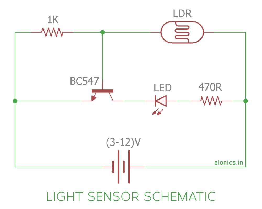 medium resolution of light sensor using ldr and transistor circuit diagram