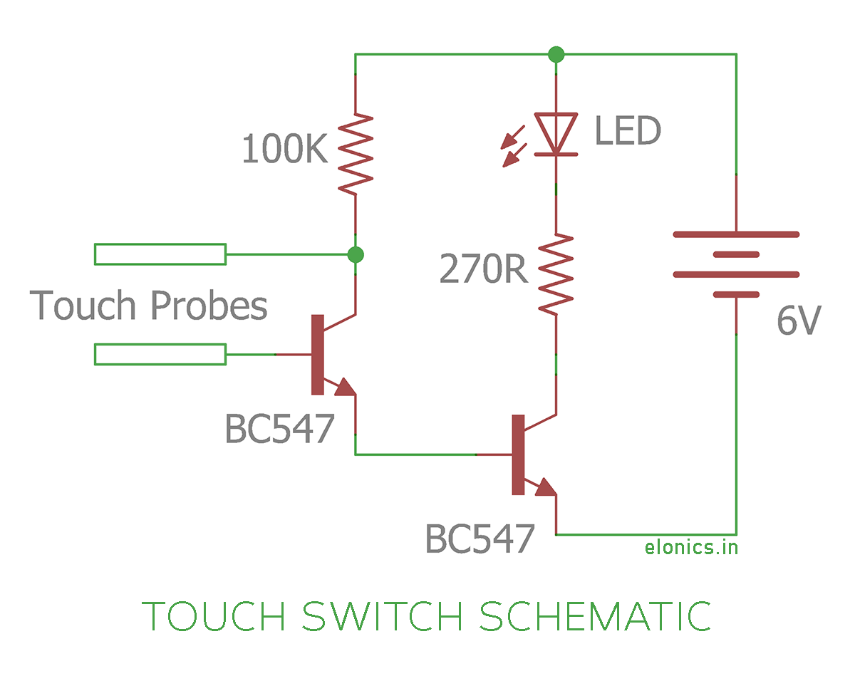 how to make a circuit diagram radio wiring for 2004 chevy silverado simple touch switch using transistors elonics