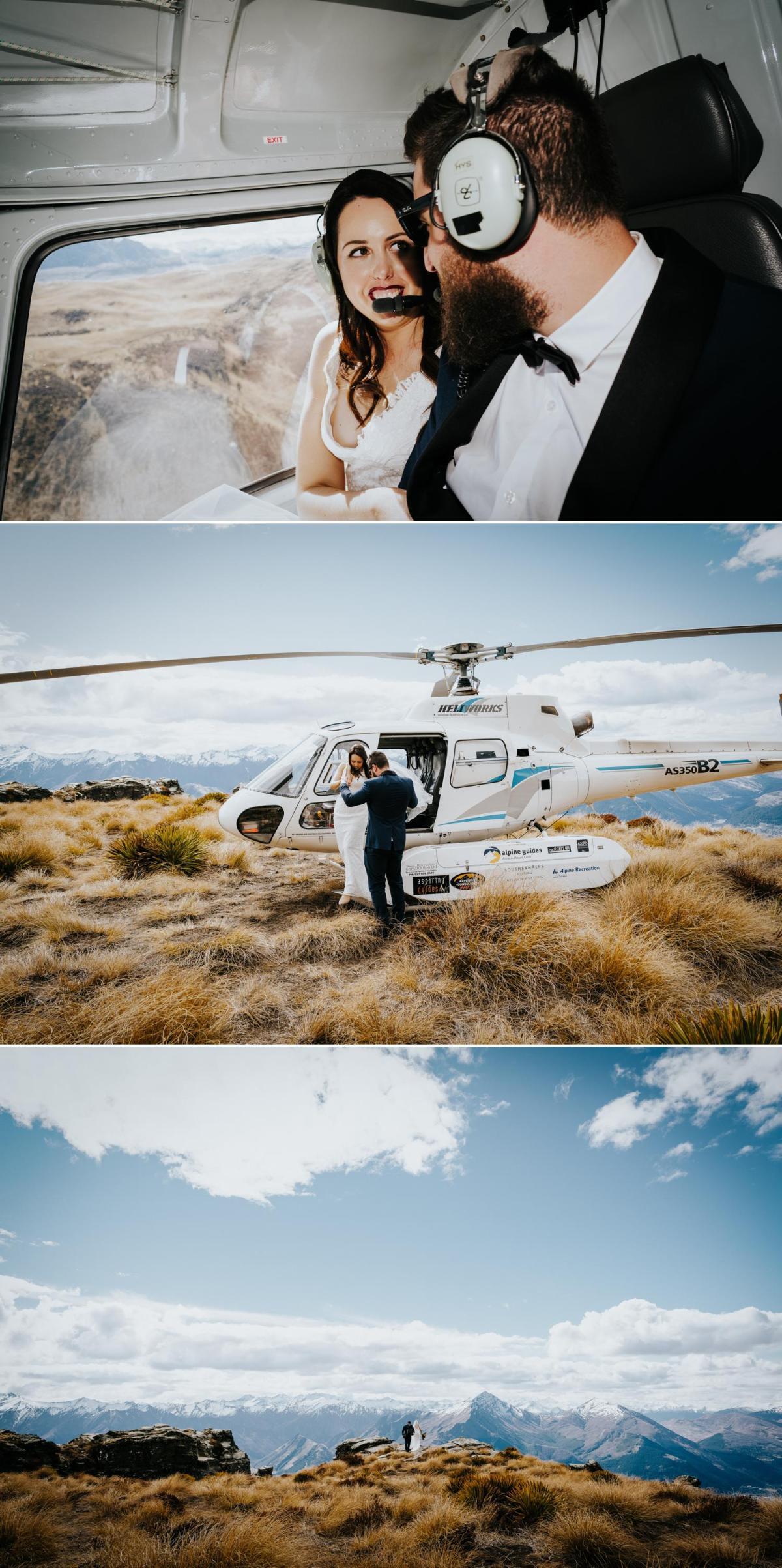 Cecil Peak heli wedding