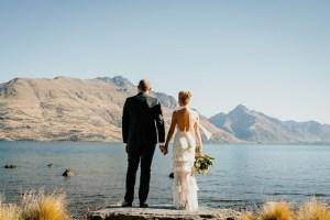 views across lake wakatipu, wedding photography Queenstown