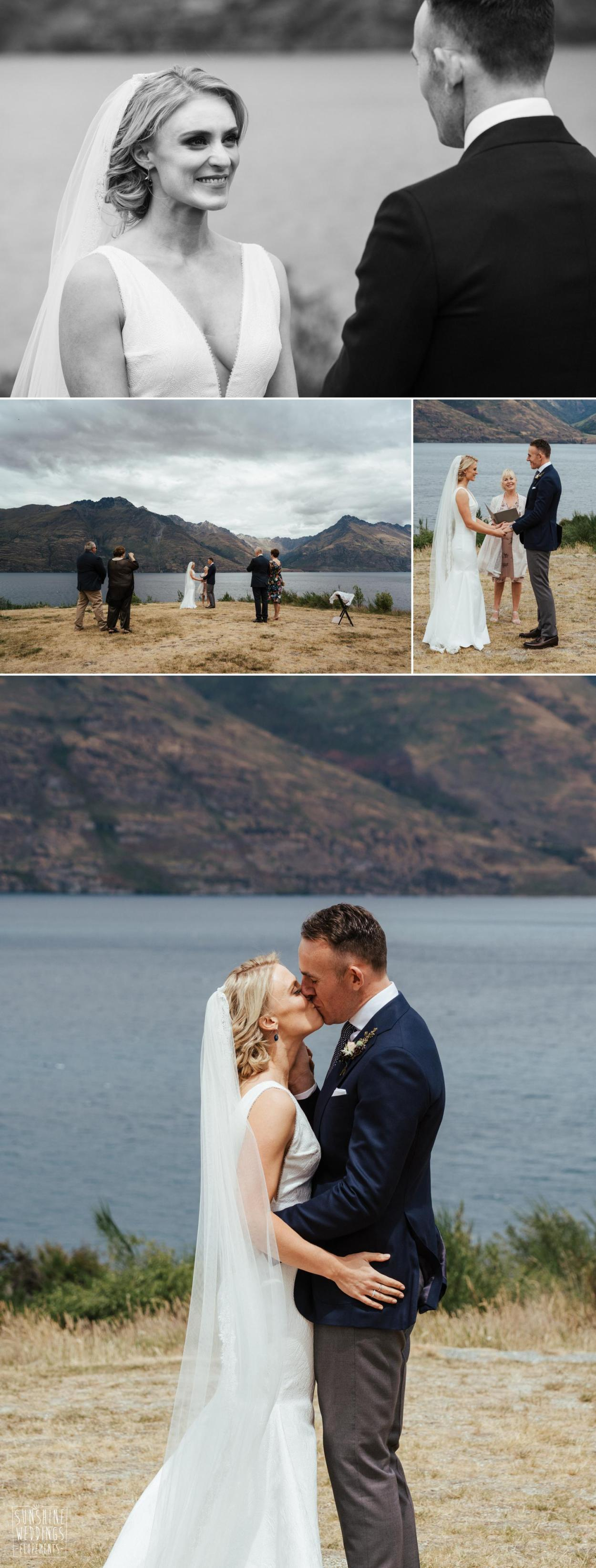 lakeside elopement wedding