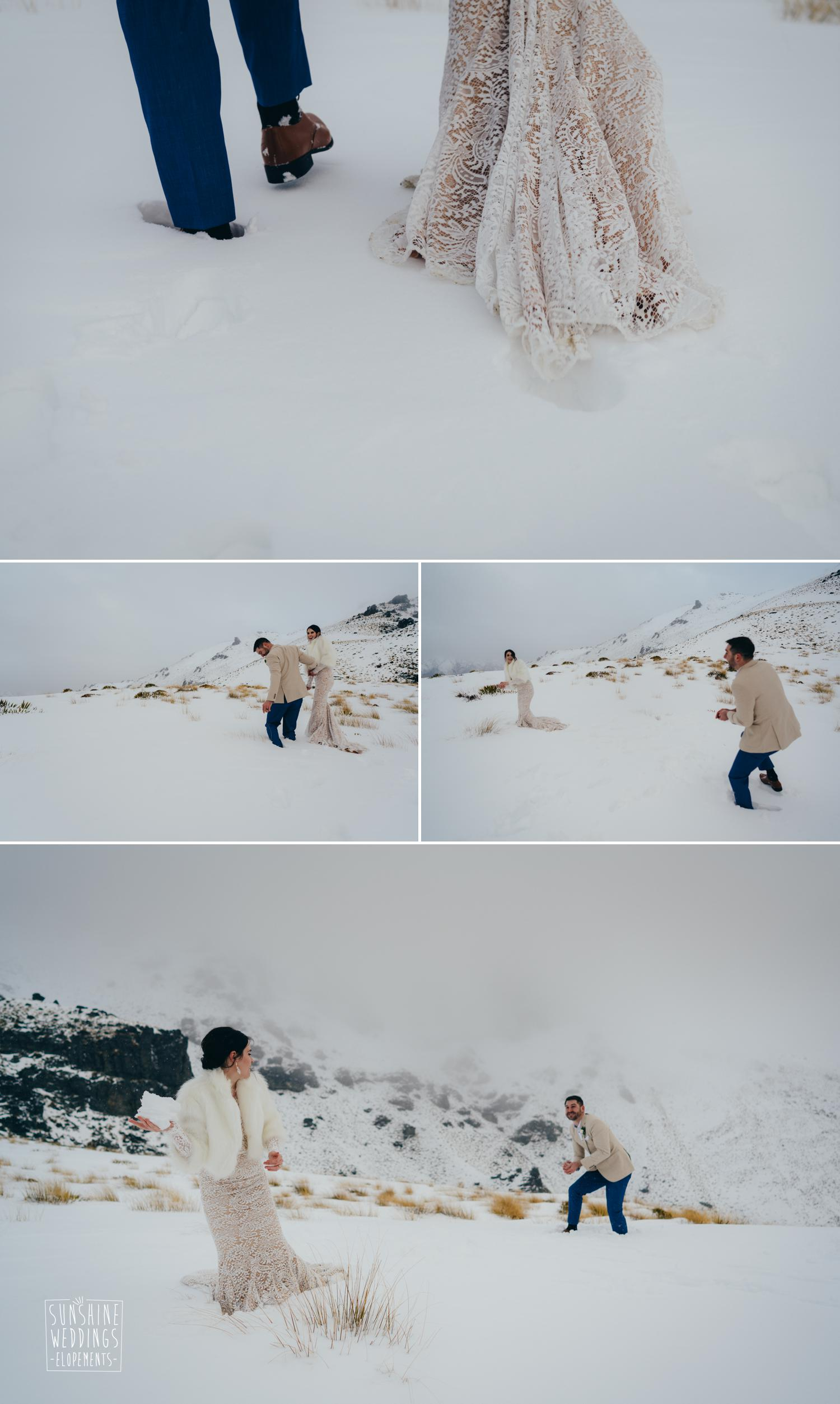 Winter wedding NZ photographer