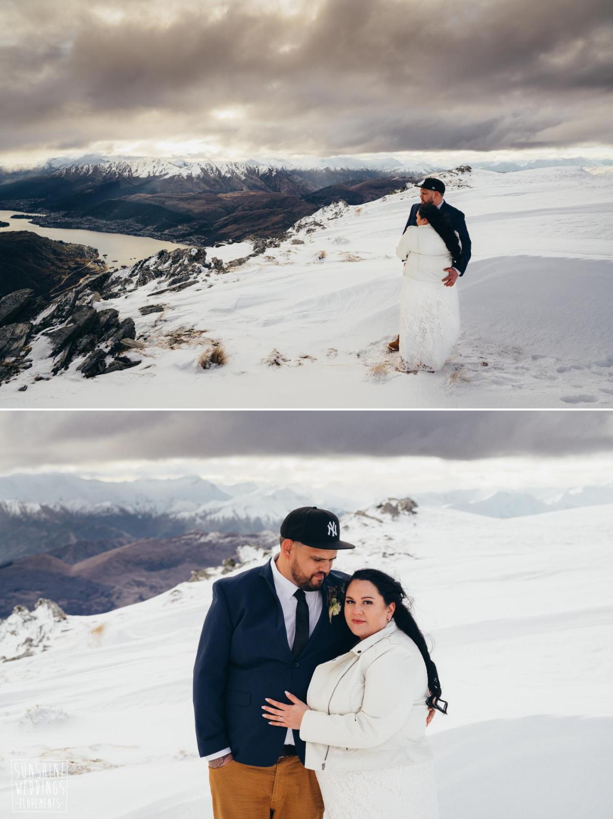The Remarkable winter heli wedding