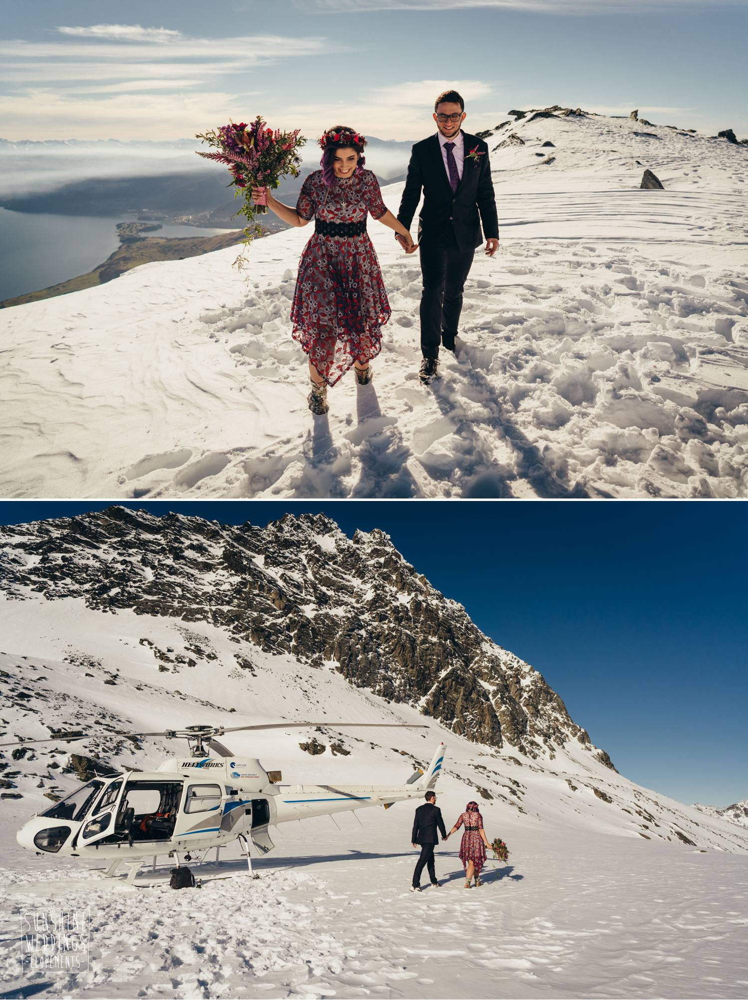 NZ mountain wedding