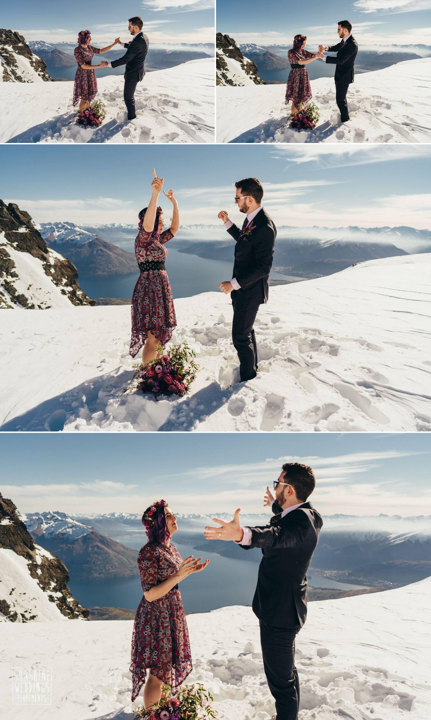 winter wedding Queenstown NZ