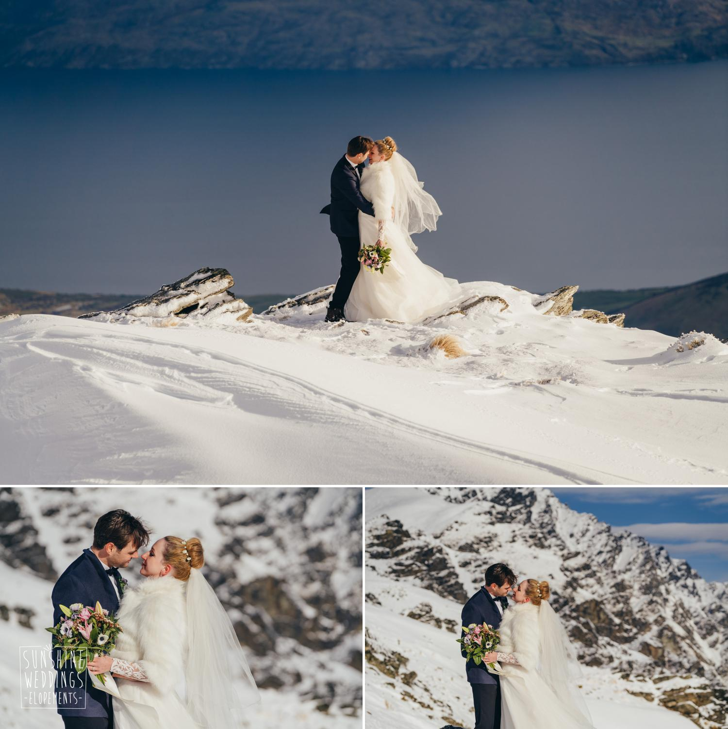 Queenstown winter elopement the remarkables