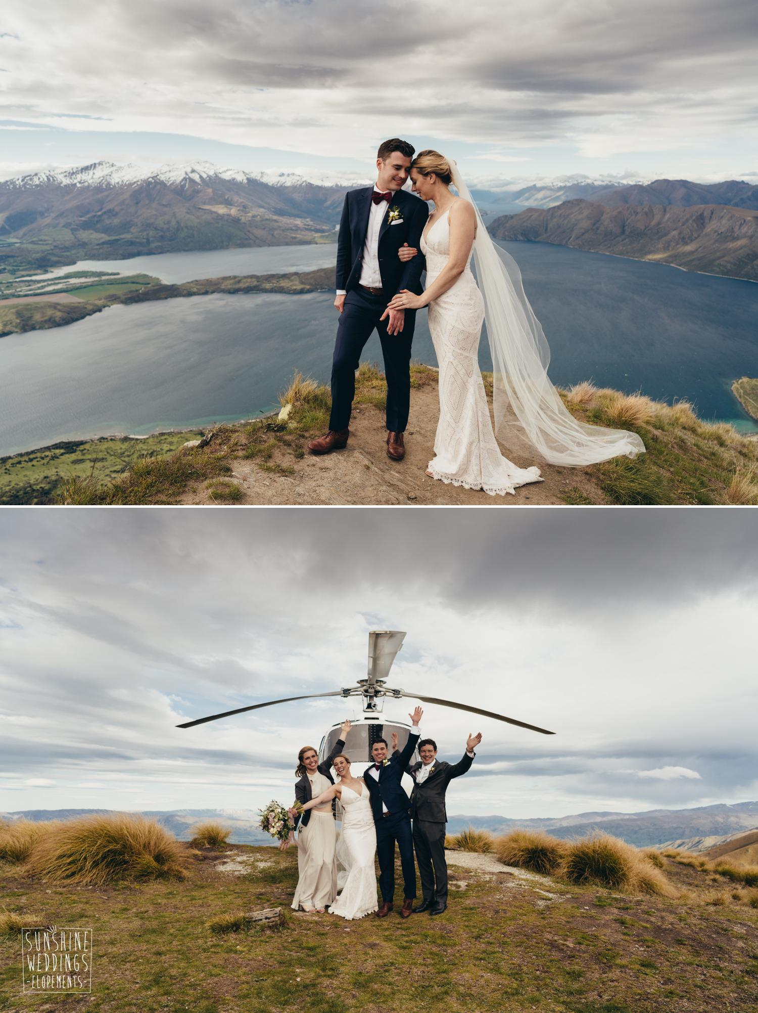 Coromandel Peak Lake Wanaka, heliworks wedding locations,