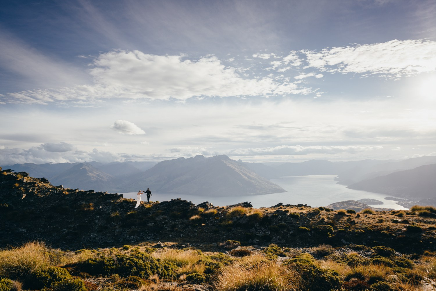 wedding on The Remarkables mountain range Queenstown