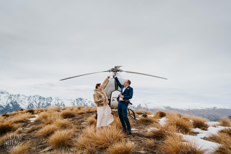 Heli wedding on Cecil Peak