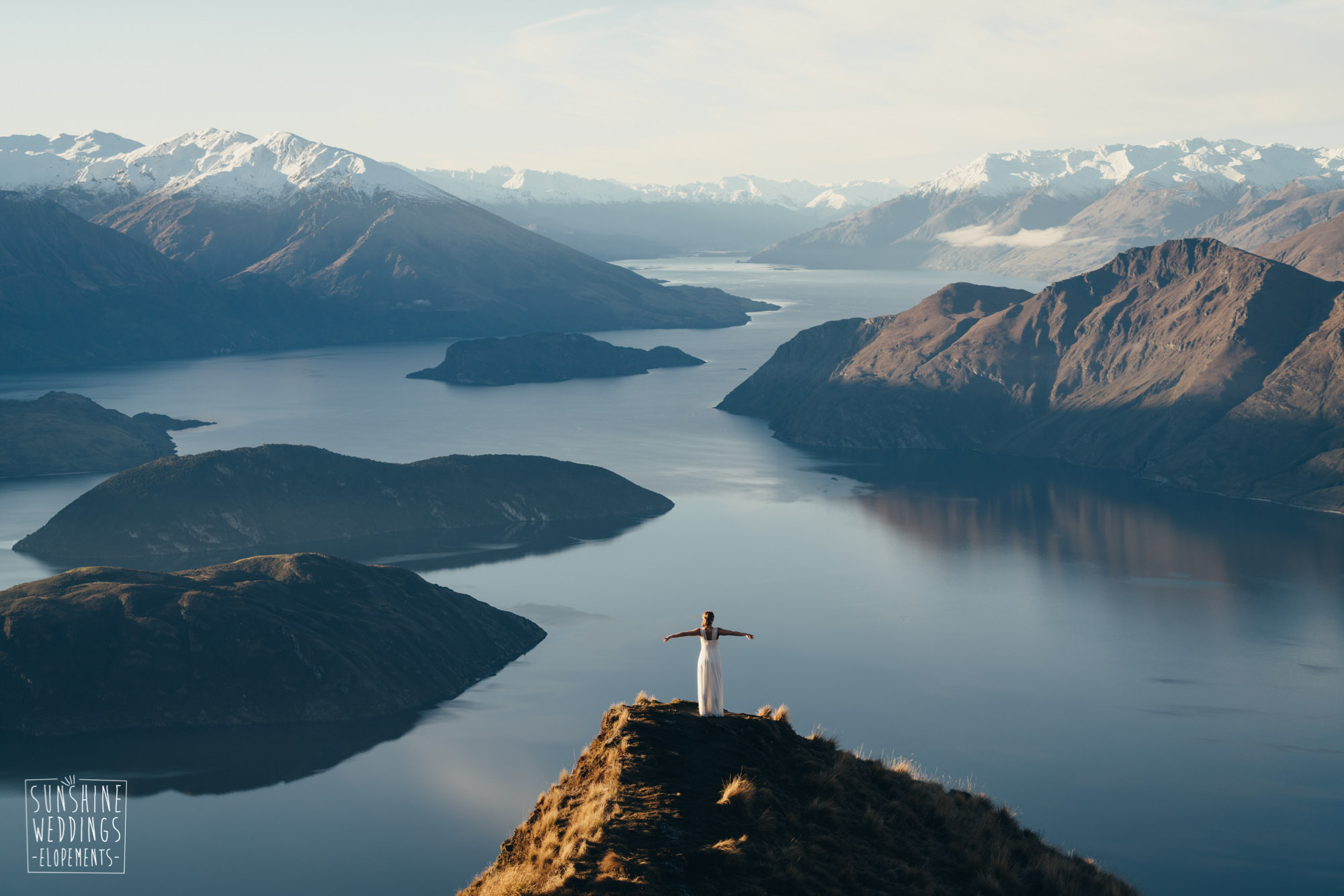 Queenstown elopement photography Coromandel peak
