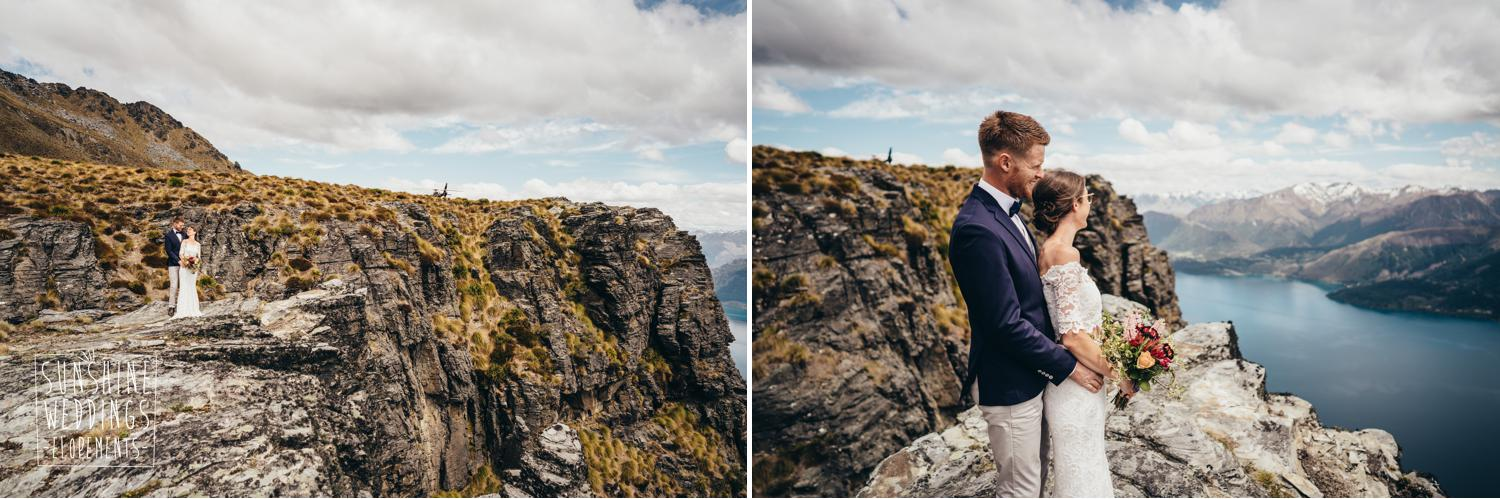 Elopement wedding photography Cecil Peak