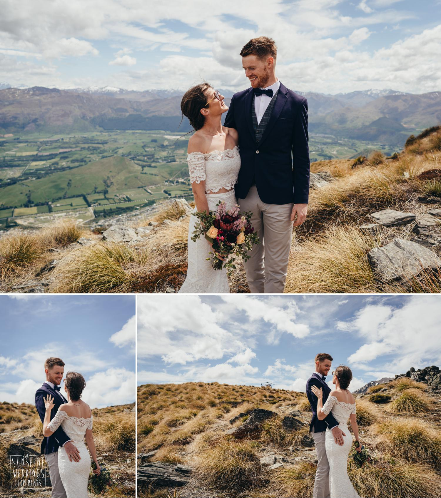 Elopement photographer and wedding couple The Remarkables