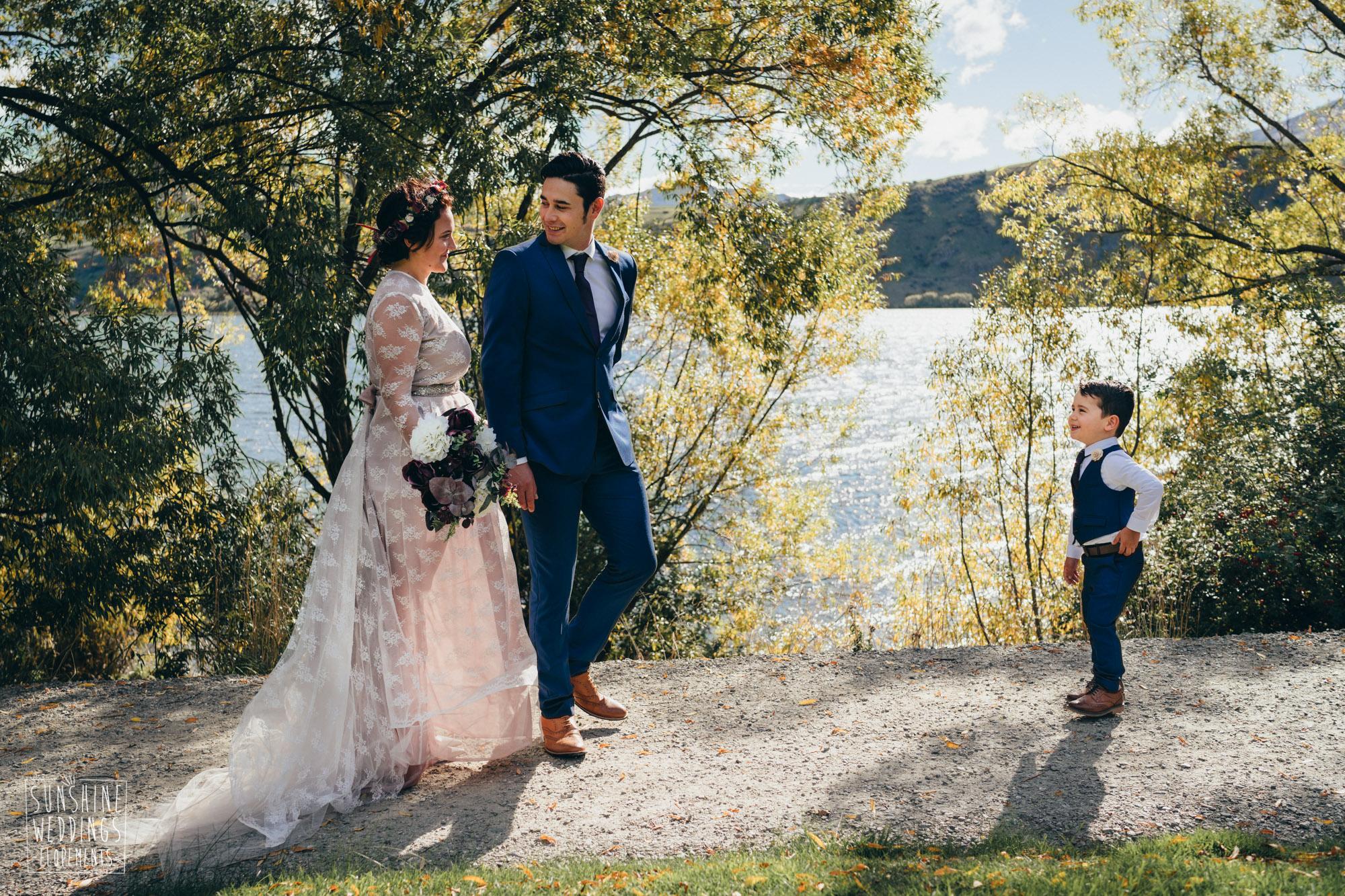 Wedding lake Hayes photographer