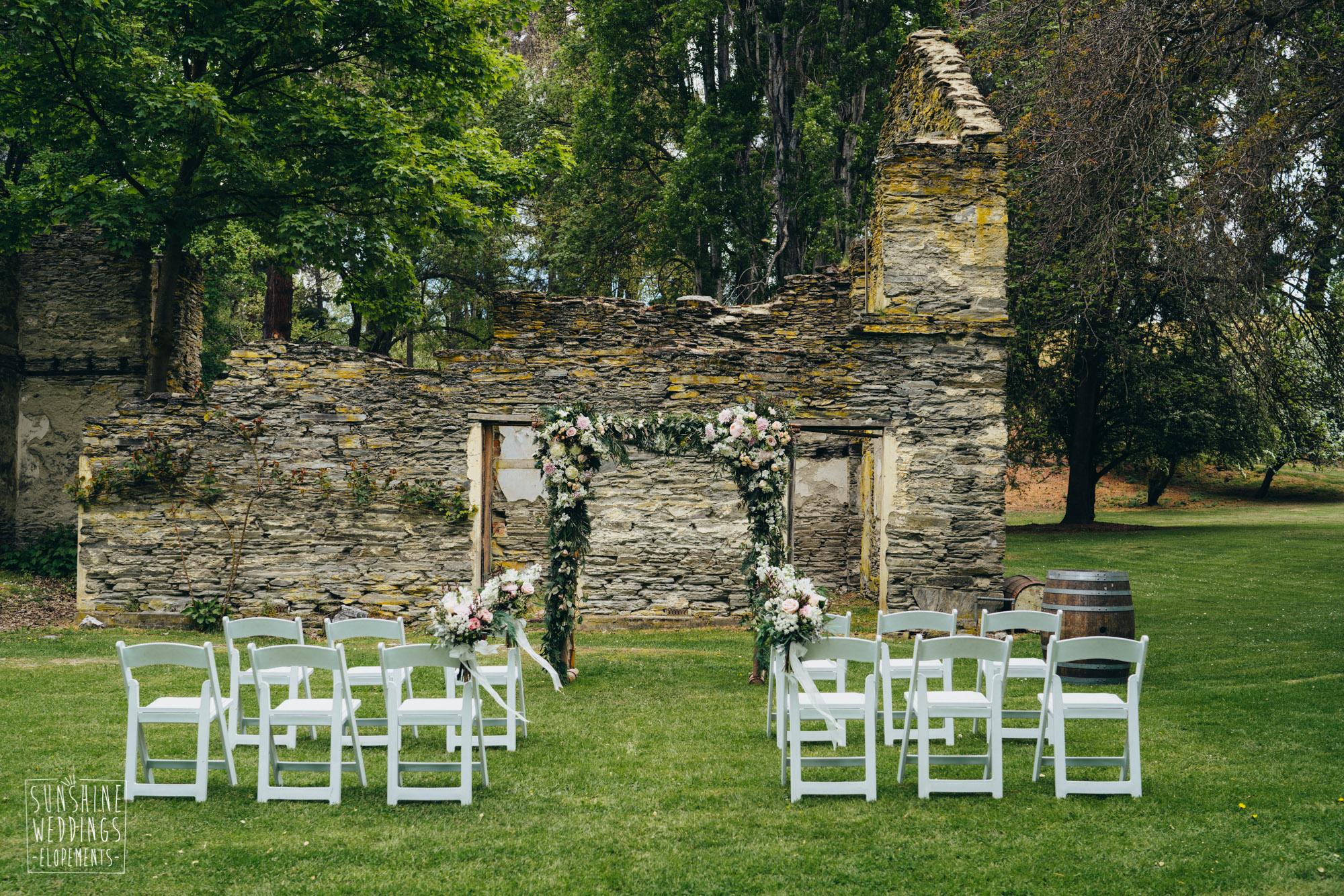 Thurlby Domain wedding, wedding venue in Queenstown, hidden gems Queenstown, stone ruins Queenstown