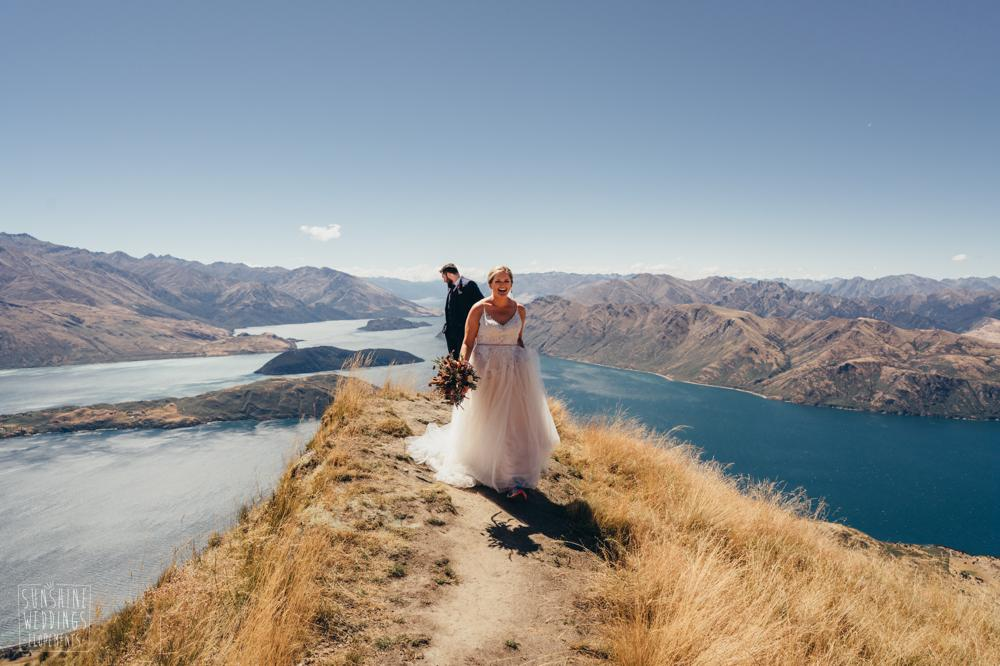 Wedding on Lake Wanaka mountain