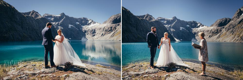 Southern Alps wedding ceremony