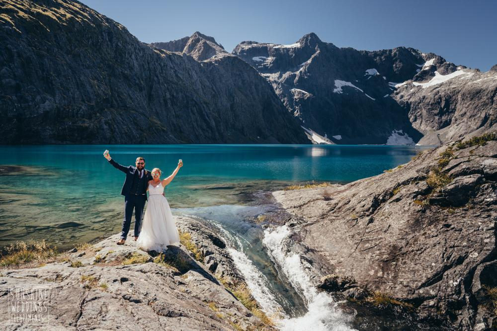 Lake Erskine wedding in the mountains of New Zealand