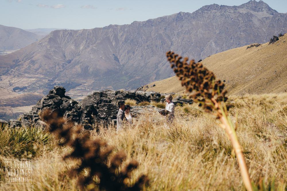 mountain wedding ceremony and photo