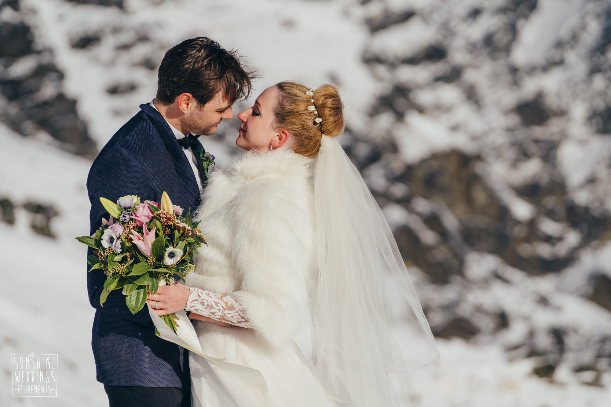 Winter wedding on The Remarkables