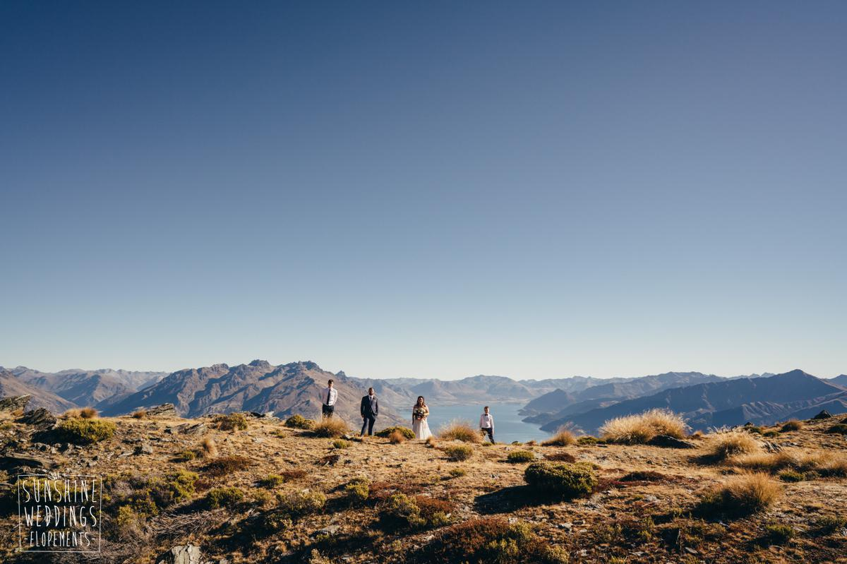 Family wedding on The Remarkables mountains Queenstown