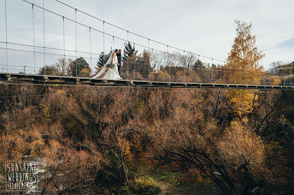 New Zealand autumn elopement