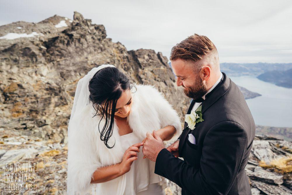 Mountain elopement wedding Queenstown