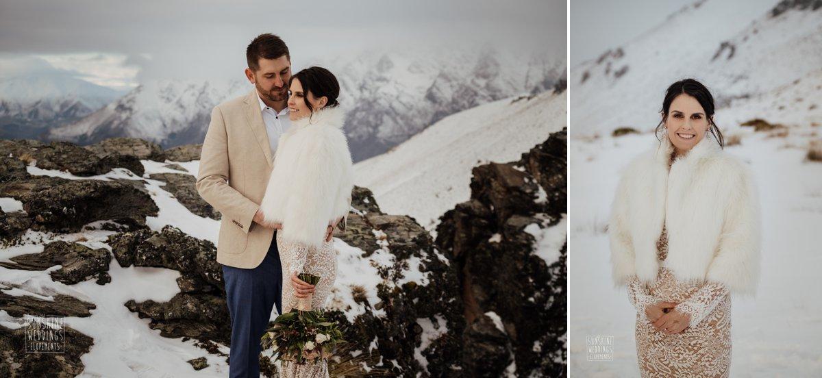 fur jacket weddings