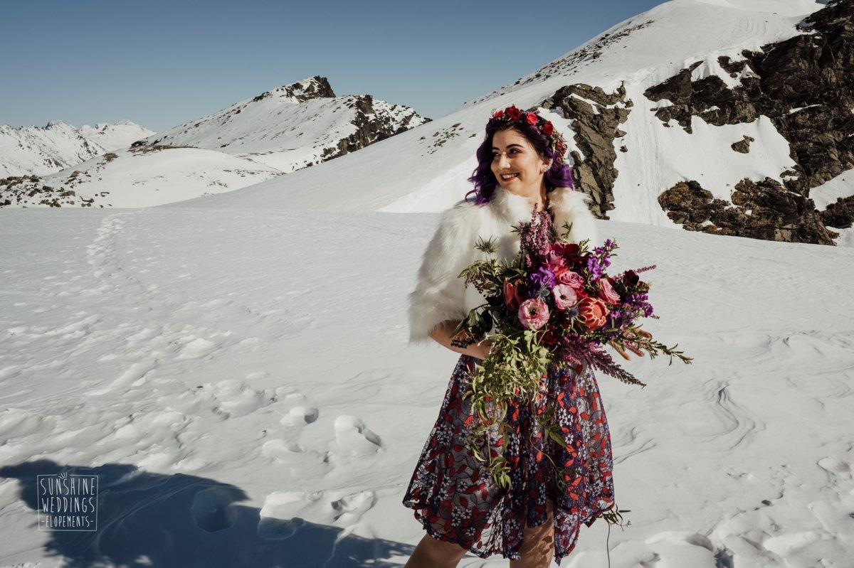 designer white fur wedding jacket