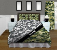 Grey and Green Camouflage Bedding, Camoflauge Children's ...