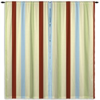 Beige, blue, and Brown Striped Curtains for Boys #102 ...