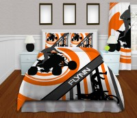 ATV Bedding with Motocross in Orange with Stripes#154 ...