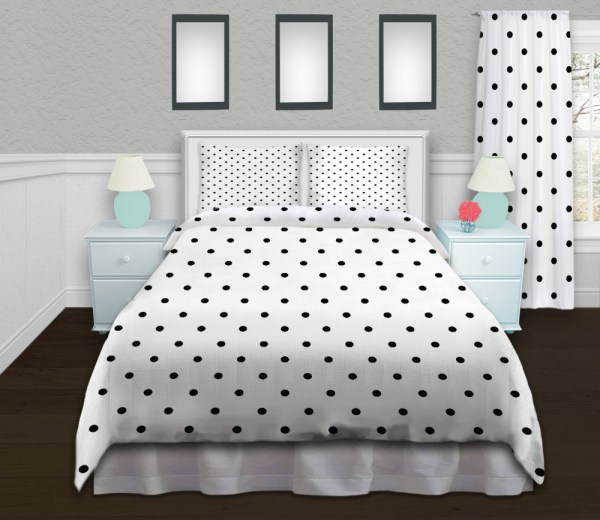 Black And White Polka Dot Patterned Duvet Covers Girls #97 - Eloquent Innovations