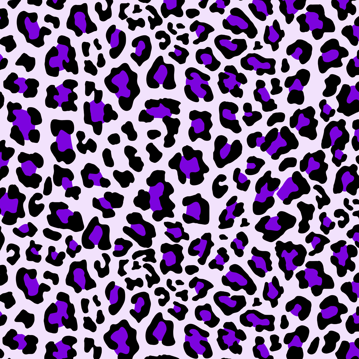Purple Themed Cheetah Print Window Curtains for Bedrooms