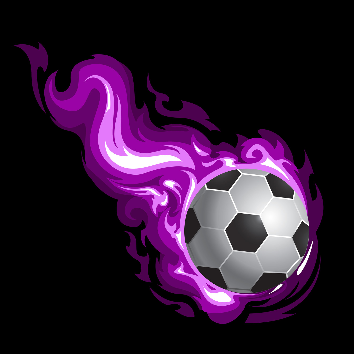 Purple Sports Curtains in Soccer Theme for Girls Room 142