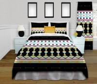 Aztec Printed Bedding, with a black and yellow Arrow Theme ...
