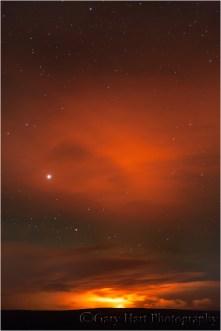 Pu'u O'o at Night, Jagger Museum, Volcanoes National Park, Hawaii