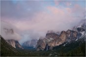 Moon at Twilight, Yosemite Valley from Tunnel View