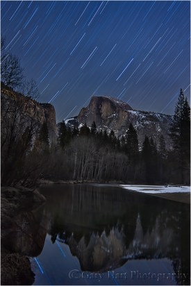 Star Trails and Reflection, Half Dome, Yosemite