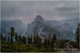 Gary Hart Photography: Sierra Lightning, Half Dome, Yosemite