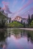 Gary Hart Photography: Spring Moon, Half Dome, Yosemite
