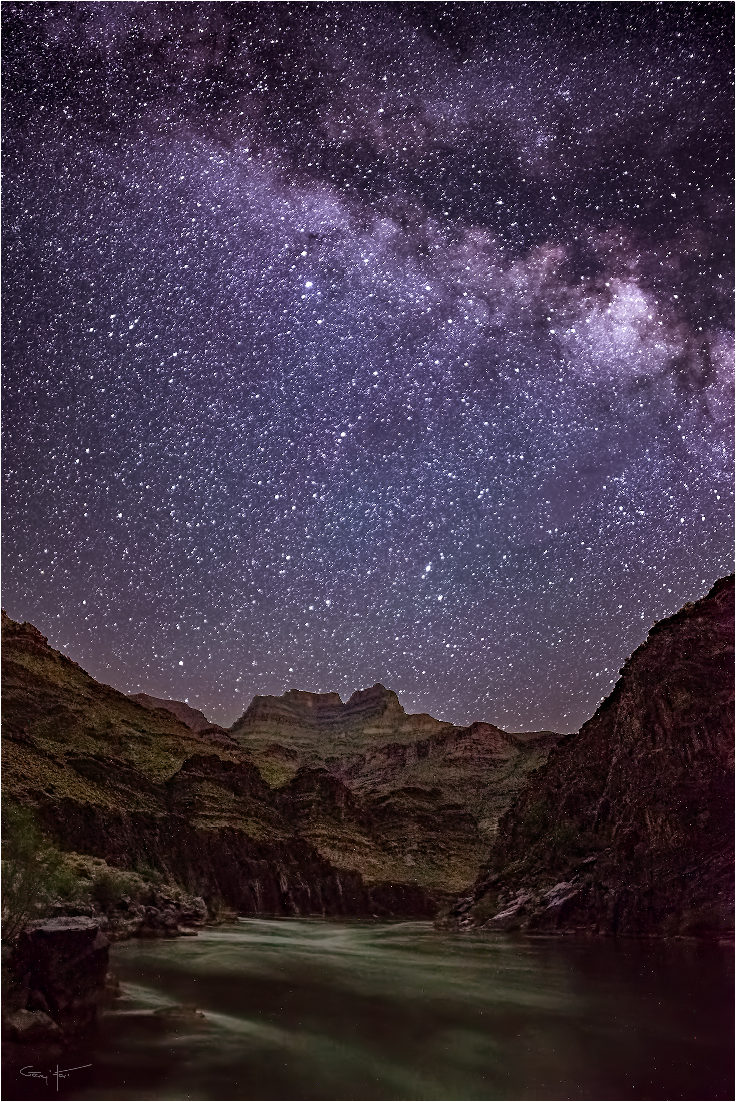 Starry Fall Night Wallpaper In My Right Mind At The Grand Canyon Eloquent Images By