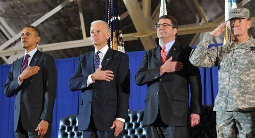 From left: US President Barack Obama,US