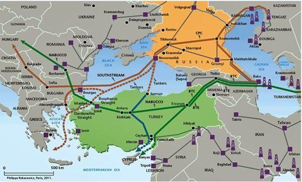 Oleoductos y gasoductos Mar Negro
