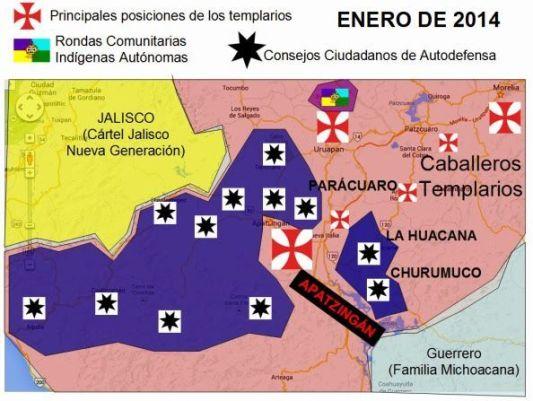 Autodefensas Michoacán enero 2014
