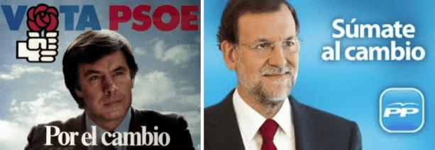 PSOE PP González Rajoy cambio
