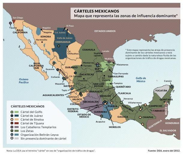 Mapa narcotráfico México