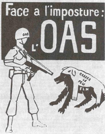 Folletos de la OAS distribuidos tras el Putsch de Argel.