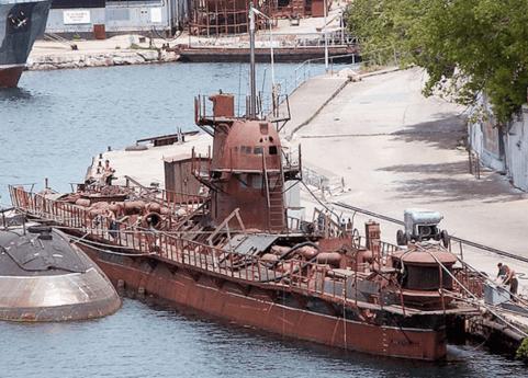 Submarino Zaporizhzhia antes de ser reparado